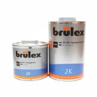 2К-HS-Прозрачный лак Премиум 6 x 1 ltr Brulex + 2K-Отвердитель нормальный 6 x 0,5 ltr Brulex
