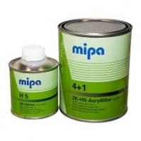 Грунт наполнитель HS (4:1 по объему) 4+1 - 1л  Acrylfiller HS. Серый  Mipa