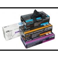 Перчатки нитриловые черные Магнум, 300 мм, толщина-0,21 мм, 50шт. Размеры M коробка-диспенсер AB